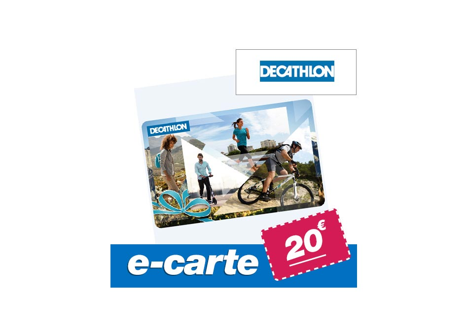E-carte cadeau DECATHLON 20 €