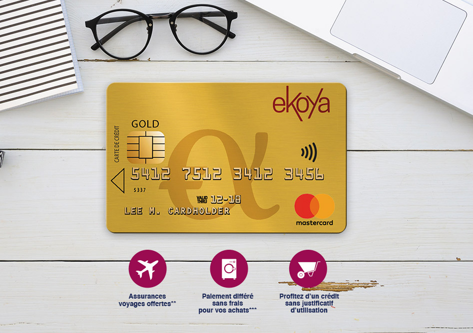 La carte GOLD Ekoya avec Advanzia Bank